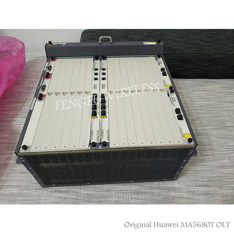 Originale FTTH 1g HW GEPON GPON OLT MA5680T 2 * SCUN 2 * GICF * 2 PRTE 1 * GPFD C + Porta di Servizio a Bordo con 16 pz C + moduli 16 GPON OLT
