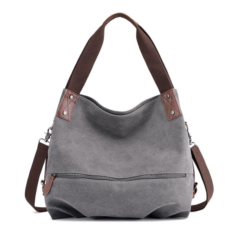Women's Handbags Canvas Hobos Bags Multi-Function Solid Waterproof Ladies Tote Bag Bolsas