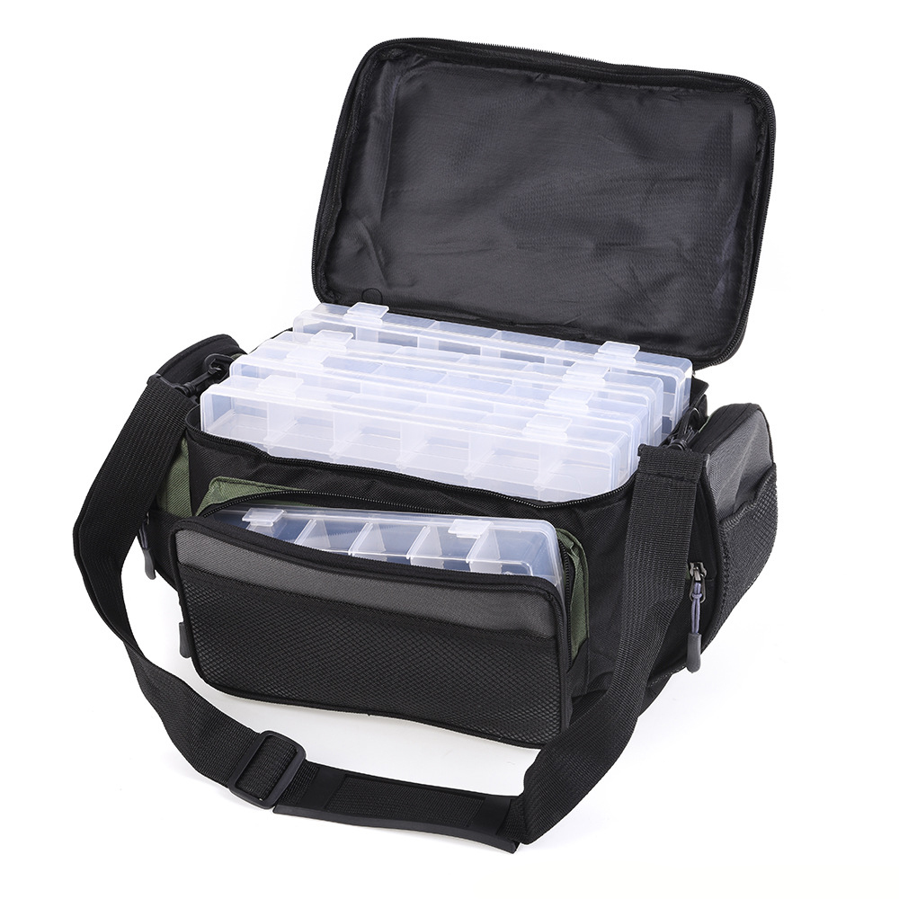 Waterproof Fishing Bag Large Capacity Multifunctional Lure Cap Fishing Tackle Pack Outdoor Shoulder Bags option Tackle Trays