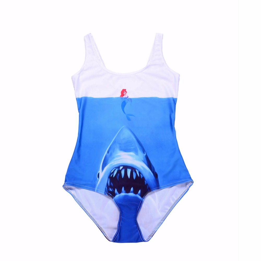 New Blue Sea Shark Sexy Women Swimsuits Red Blue Mermaid Sexy One Piece Bodycon Suits 3 Patterns S To 4xL 14