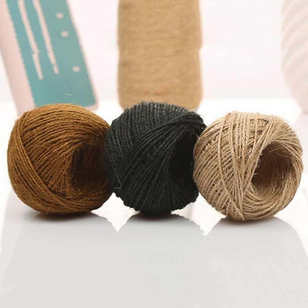 DIY instrukcja sznurka liny Craft przewód jutowy konopnej liny domu tkaniny sznury uniwersalny Wrap Decor tagi ślubne dekoracje