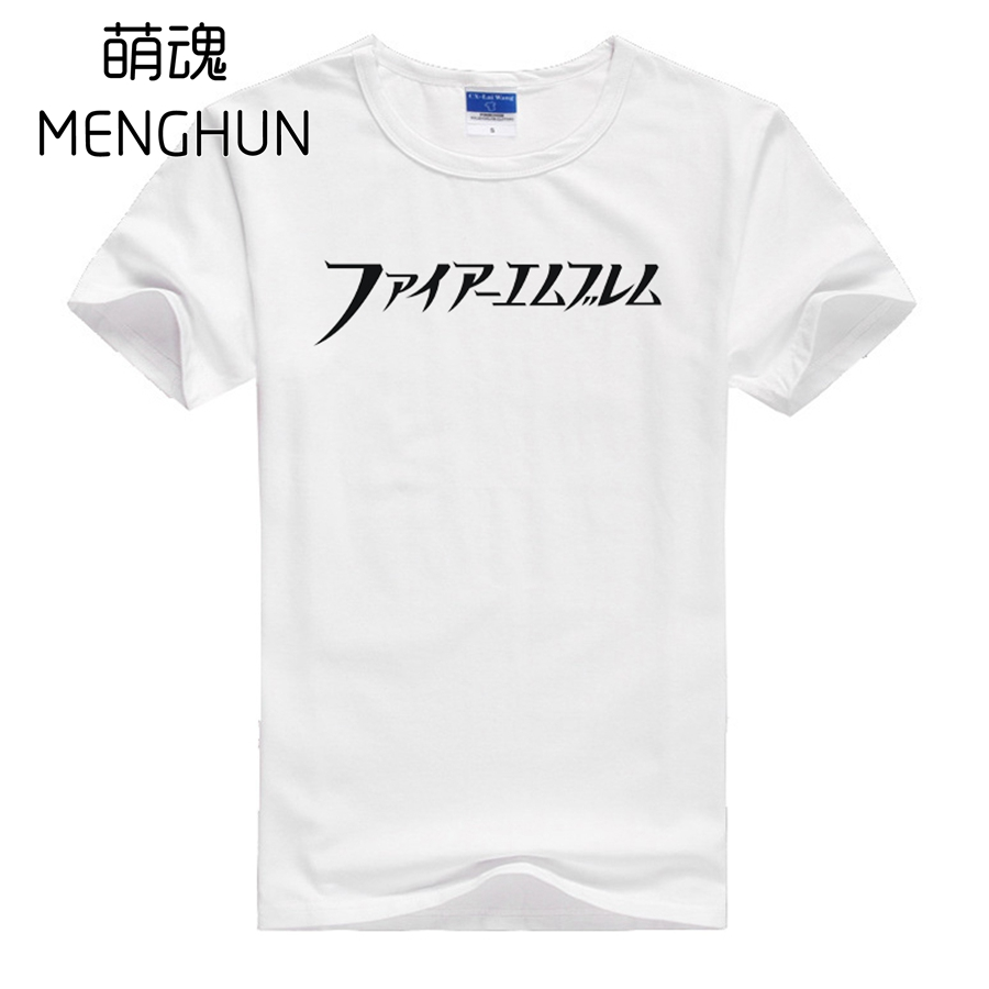 Retro game concept cotton t shirts game fans gift t shirt Fire Emblem t shirt short sleeve summer tee shirts for game fans ac864 image