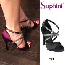 Free Shipping Eye catching and Comfortable Dance Shoes High Heel Ladies Salsa Latin Dance Shoes
