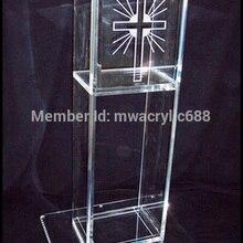 Популярный красивый логотип современный дизайн дешевая прозрачная акриловая Трибуна украшения