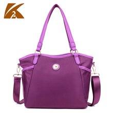 2016 High Quality Waterproof Nylon Handbag Women Tote Bag Female Large Capacity Top Handle Handbags One Shoulder Bag Purple Blue