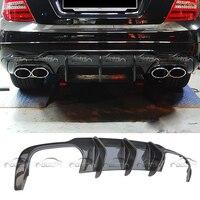 Top Quality Carbon Fiber Rear Bumper Diffuser Lip for Mercedes Benz W204 C63 (Fits for 11 UP W204 C63 AMG)
