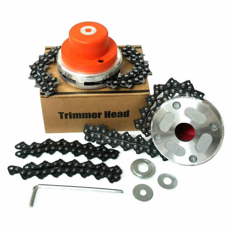 Peça universal para cortador de grama, bobina de cabeça de 65 mn, de roçador de corrente com espessador para aparar jardim