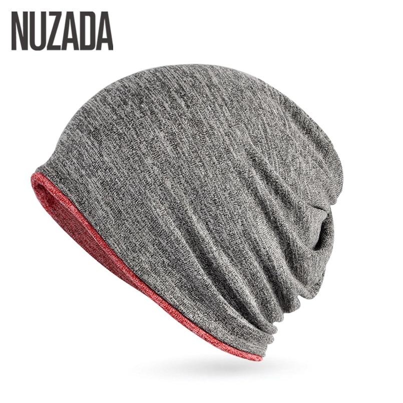 Brand NUZADA Winter Cotton Hat Keep Warm Men Women Hedging Cap Two Ways To Use   Skullies     Beanies   Knitted Knitting Caps Bonnet