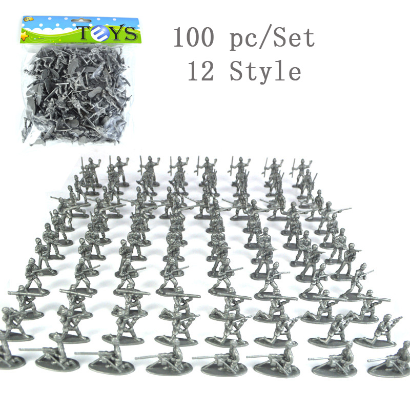 100PC Set American Soldier Action Figure Model Toy Army Military Display Collection Juguetes Chidlren Birthday Christmas Gift in Action Toy Figures from Toys Hobbies