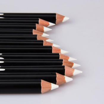 12PCS/Lot white Make Up Beauty Pen Eyeliner Eye Liner Pencil Eyebrow Eyeshadow Cosmetics Eyes Makeup Tools