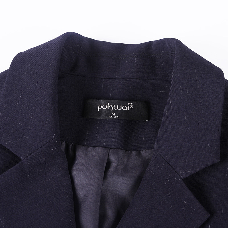 Solid straight slim long sleeve blazers 2018 new single button notched women autumn coats