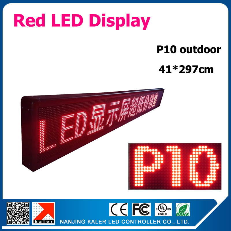 41x297cm led sign board p10 led module 1/4 Scan current drive led display red color outdoor bright led sign41x297cm led sign board p10 led module 1/4 Scan current drive led display red color outdoor bright led sign