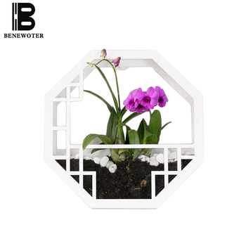 Chinese Style Wall Vase Hydroponic Flower Pot Entrance Wall Decor Wall-mounted Succulent Plants Creative Hotel Living Home Decor