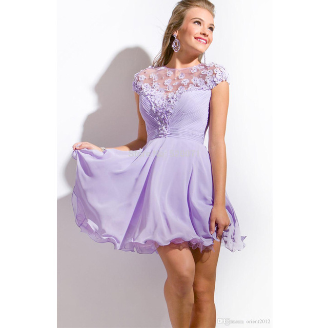 New Arrival Lavender Short Prom Dresses 2017 Sexy Party Evening
