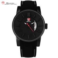 Grey Reef Shark Sport Watch Black 3D Special Designer Top Brand Luxury Date Silicone Band Waterproof