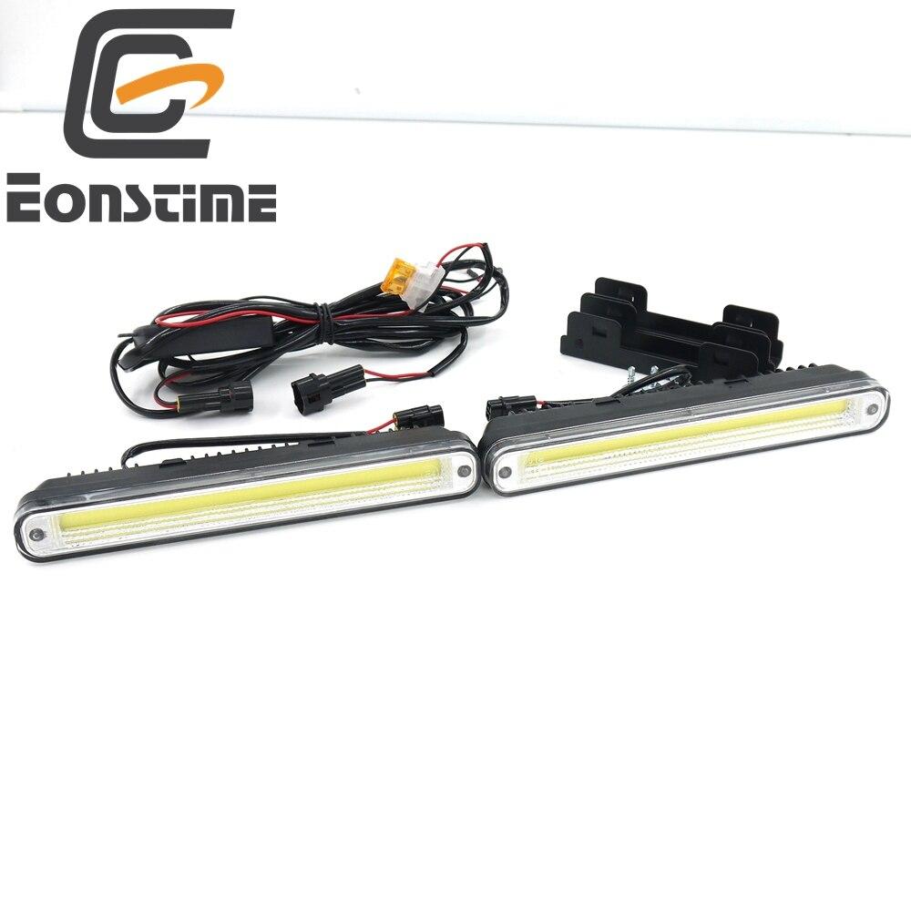 Eonstime 2 шт. 20 см COB светодиодный автомобилей, автомобильные фары дневного света светильник LED DRL супер белый Предупреждение лампа Установка Кр...