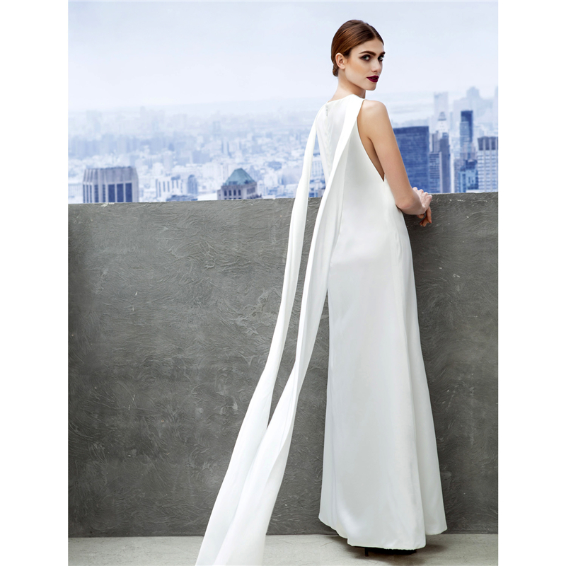 TS Couture Sheath Column Bateau Neck Ankle Length Chiffon Prom Formal  Evening Dress with Pleats Party Designs Prom Gowns-in Prom Dresses from  Weddings ... a99a27c22015