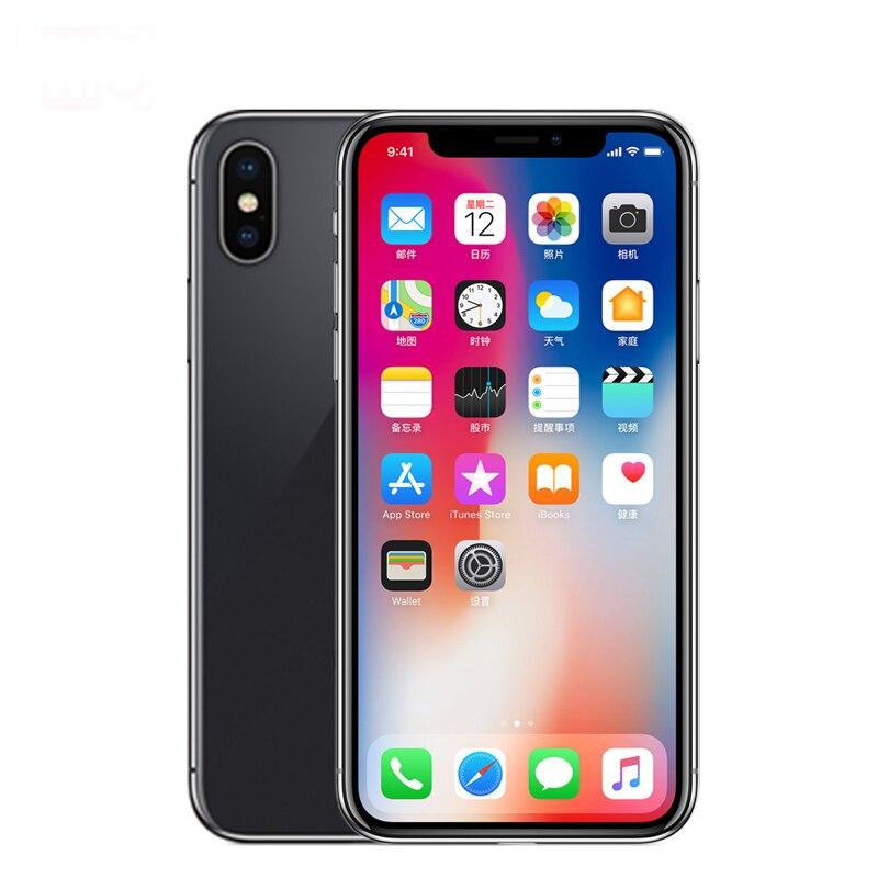 Sbloccato Originale Apple iphone X ROM 3 gb di RAM 64 gb/256 gb Viso ID 12MP 5.8 pollice 2716 mah Hexa Core iOS 4g LTE Smart Phone Viso ID