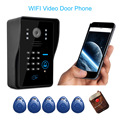 KKmoon WiFi Video Door Phone intercom Video Doorbell Peehole Camera PIR IR Night Vision Alarm Take Photo Card Reader Android IOS