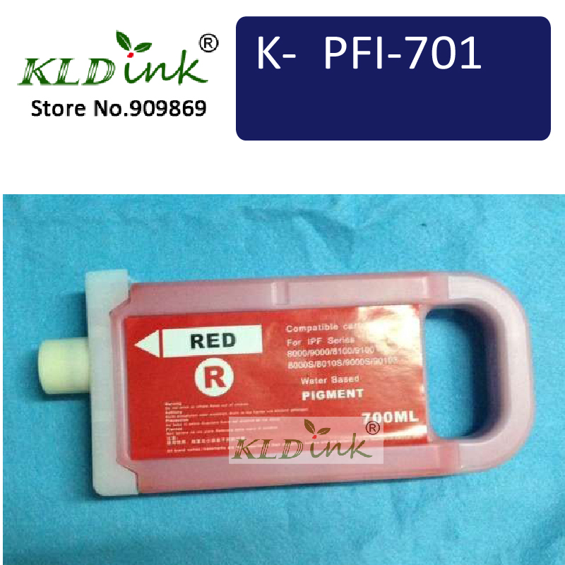 PFI-701R Red Ink Cartridge ( PFI701 0906B001 Ink) Compatible with imagePROGRAF iPF8000 / iPF9000 printerPFI-701R Red Ink Cartridge ( PFI701 0906B001 Ink) Compatible with imagePROGRAF iPF8000 / iPF9000 printer