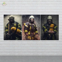 Fireman Pictures Canvas Art Wall Prints Painting  Artwork Home Decoration HD Printed