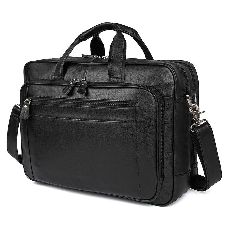 100% sac en cuir véritable pour hommes porte-documents portefeuille sac à main 7367A