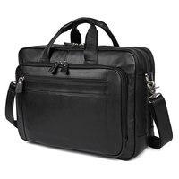 100% Genuine Leather Bag For Men's Briefcases Portfolio Handbag 7367A