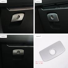 цены Lapetus Accessories For Jaguar F-Pace 2017 2018 2019 ABS The Co-pilot Glove Box Button Switch Decorative Molding Cover Kit Trim