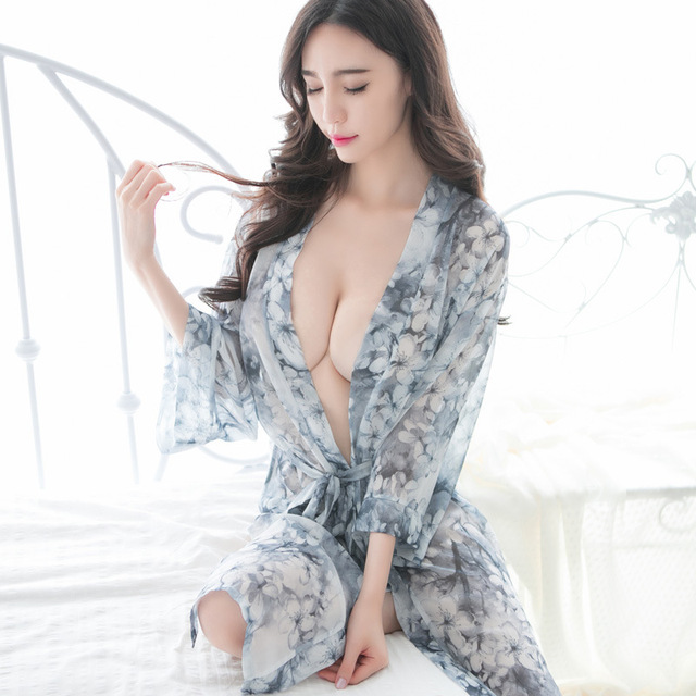 New Porn Women Kimono Sexy Transparent Erotic Bridal Lingerie Women Sexy Nighty Chiffon Lingerie Mysterious Sri
