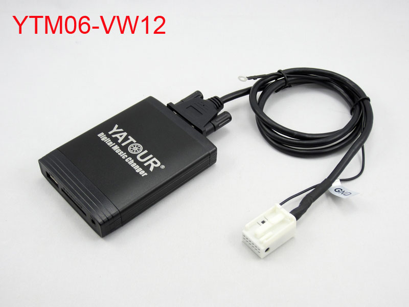 ФОТО Yatour Car Digital CD Music Changer USB MP3 AUX adapter for VW Polo 2005-2011 Golf mk3 Passat b4 b6 T5 2003-2011 SD MP3 Player