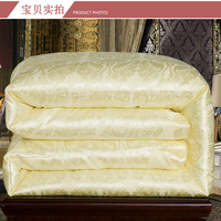 Mulberry Silk Quilts 2017 Bed Comforters Country Quilts Silk Floss Blanket Fabric Super King Quilt Yellow Pink Twin Comforter