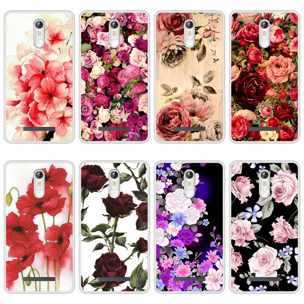 Phone Case For Leagoo M8 Pro Soft Silicone TPU Floral Flower Pattern Painted For Leagoo M8 Pro Case Cover