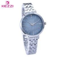 KEZZI Full Steel Gentleman Watches Luxury Brand Casual Wristwatch Male Fashion Rhinestone Clock Waterproof Quartz