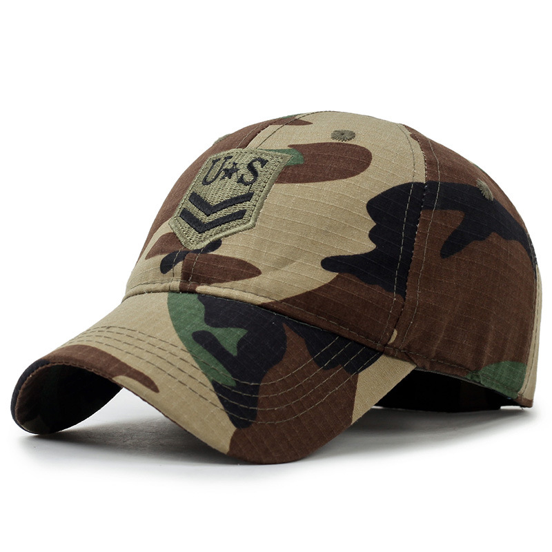 KUYOMENS ARMY Embroidery Basics Cap hat Camo outdoor dad Hat Army Tactical Sun Baseball Cap Snapback hat mens unisex