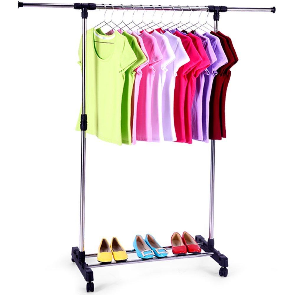 Portable Single Rod Extendable Clothes Rack Garment Rack