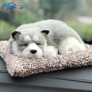 Dekorasi Interior Mobil Anjing Dekorasi Hiasan Mobil ABS Mewah Anjing Goyang Kepala Simulasi Tidur Anjing Mainan Auto Dashboard Ornamen