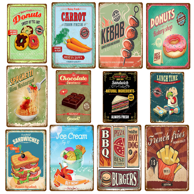 Vintage Shop Kitchen Cafe F Metal//Steel Wall Sign Rocket Lolly Ice Cream