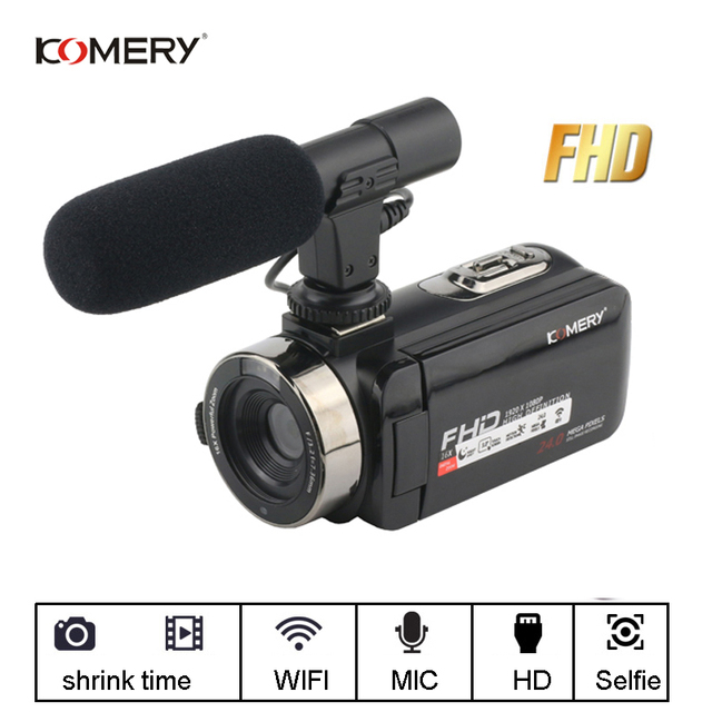 KOMERY Video Camera 1080P Full HD Portable Digital Video Camera 16X Digital Zoom 3.0 Inch Touch LCD Screen Camcorder With Wifi 4