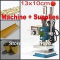 Hot foil stamping machine leather deboss machine 2 in 1 (13x10cm) 220V + Customized debossing die + Foil + adhesive tape kits