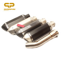 Motorcycle Exhaust Muffler Middle Link Pipe Escape DB Killer For Yamaha FZ1 FZ1N FZ1000 2005 2016 Slip On Full Exhaust System