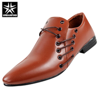 URBANFIND Designer Men Casual Leather Shoes EU Size 39 44 Brand Fashion Man Lace Up Oxfords