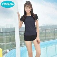 LYSEACIA Patchwork Swimwear Women Two Piece Swimsuits Plus Size Tankini Set Women S Swimming Suit For