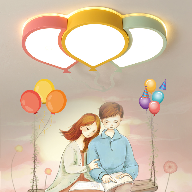 Cartoon balloon kids room led chandelier irom acrylic eyesight Children room Girl room chandelier lighting lampara