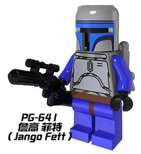 PG641 Building Blocks Avengers Jango Fett Star Wars Bounty Hunter Super Heroes Bricks Model Toys for children Gift