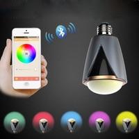 10pcs Lot Wireless E27 Led Rgb Bluetooth Speaker Bulb Light Lamp Music Playing RGBW LED Bulb