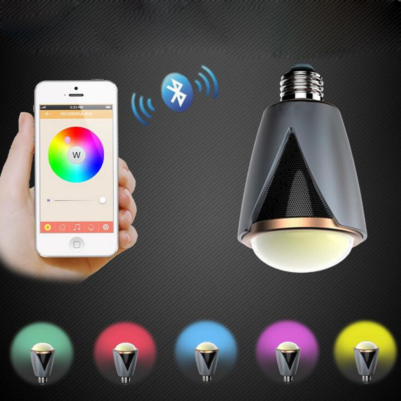 10pcs/lot Wireless E27 E26 Led Rgb Bluetooth Speaker Bulb Light Lamp Music Playing & RGBW LED Bulb Light BT Speaker Music Lamp szyoumy e27 rgbw led light bulb bluetooth speaker 4 0 smart lighting lamp for home decoration lampada led music playing