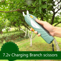7.2v manganese steel Shears Tools Forest Gardening Scissors Cut Thick Branches Fruit tree cordless Charging scissors