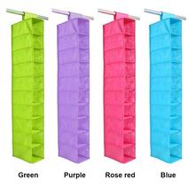 Newest Closet Home Foldable Storage Bag 10 Pockets Non woven Multiple 10 Layer Small Clothes Hanging Storage Organizer