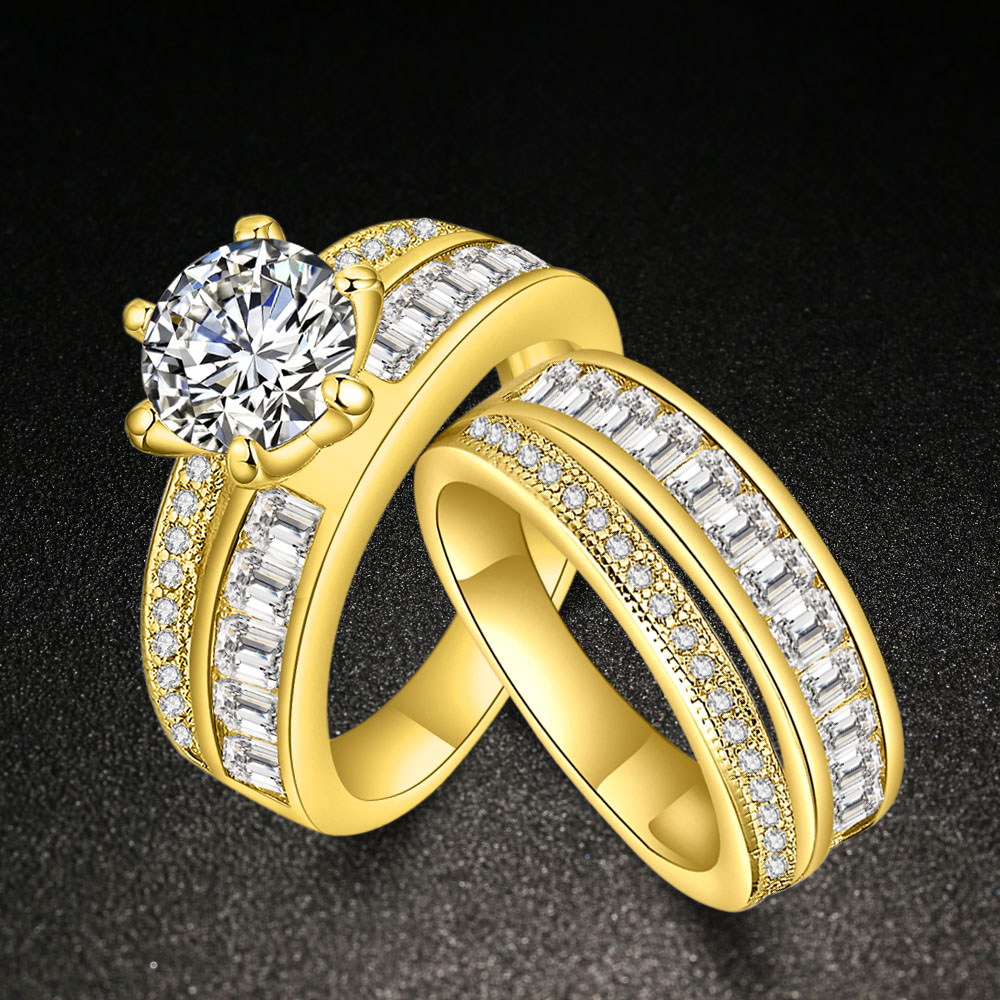 compare prices on wedding ring couple set gold- online shopping