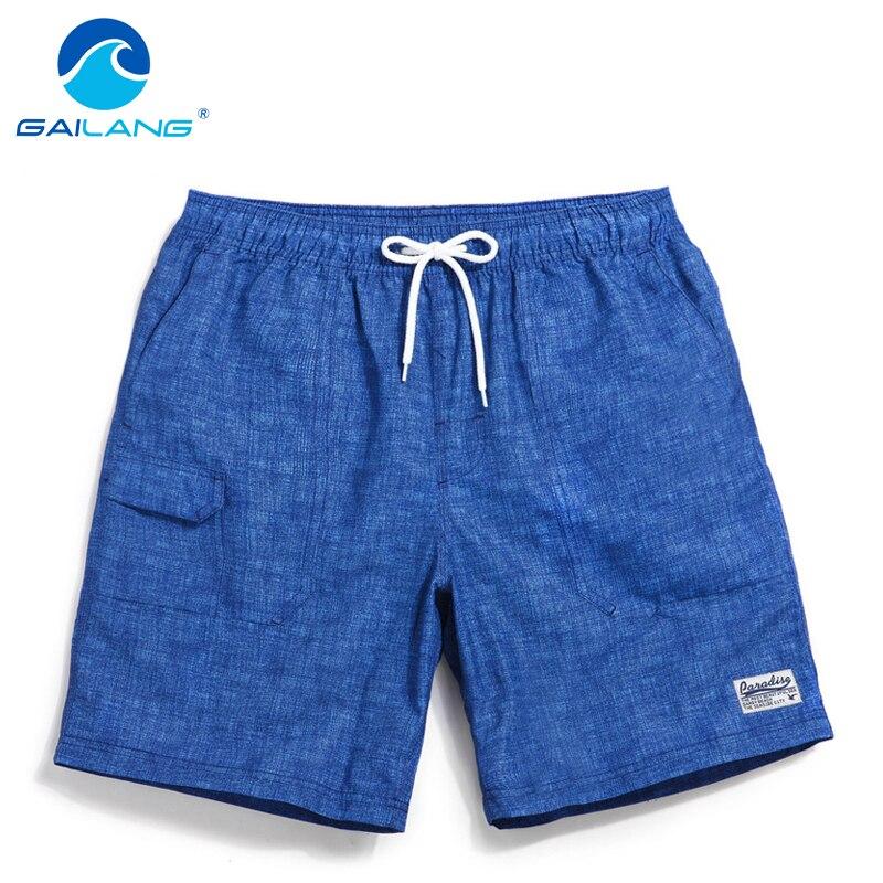 Gailang Marca Qick Dry Men Beach Shorts Troncos Boxeadores Traje de - Ropa de hombre